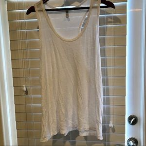 Tops - Racer back tank top size large color Bright white